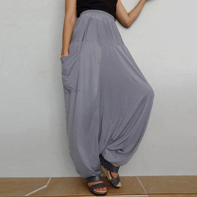 Women Loose Low-Drop Harem Pants
