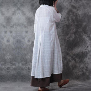Cotton Button Down Long Shirt Dress