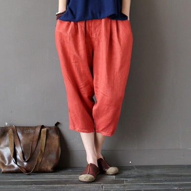 Candy Colour Linen Harem Pants - Yogalogical