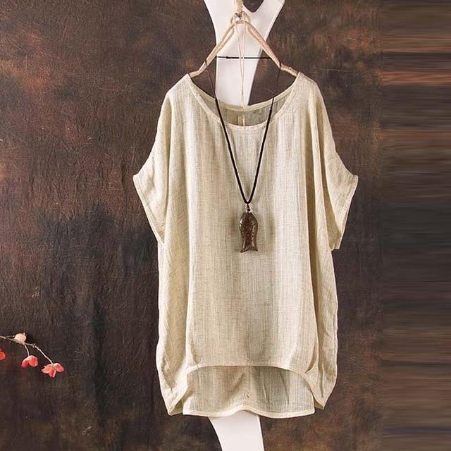 Loose Cotton T-Shirt Top
