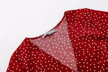 Load image into Gallery viewer, Polka Dot Boho Mini Dress