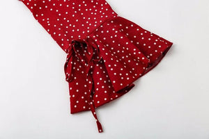 Polka Dot Boho Mini Dress