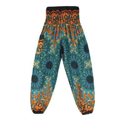 Women's Boho Harem Thai Print Yoga Pants