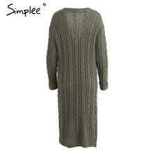 Load image into Gallery viewer, Long Knitted Casual Cardigan