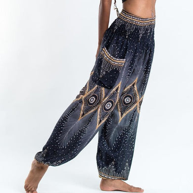 Ladies Harem Yoga Pants - Mandala - Yogalogical