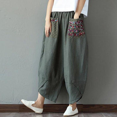 Vintage Baggy Cotton Harem Pants - Yogalogical