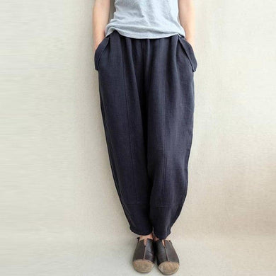 Women Retro Cotton Baggy Harem Pants
