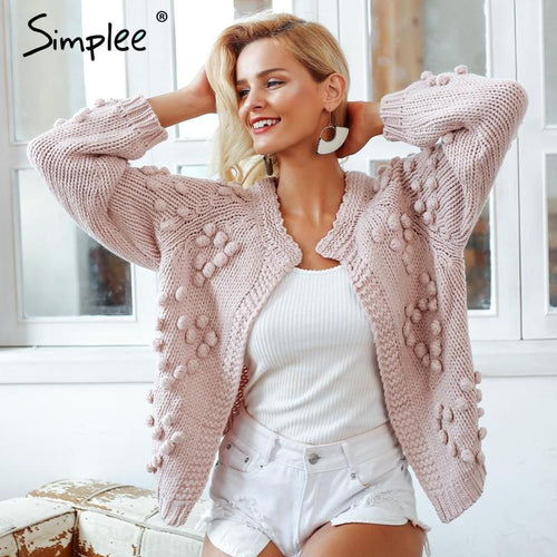 Open Casual Knitted Cardigan