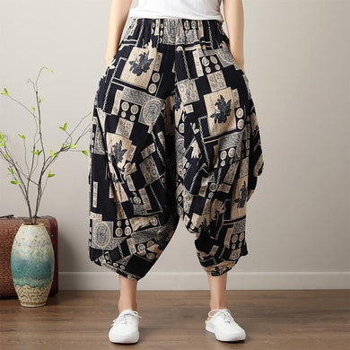 Casual Hippie Boho Loose Baggy Wide Leg Harem Pants Women - Yogalogical