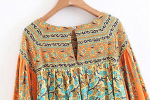 Load image into Gallery viewer, Boho Vintage Floral Print Top - Yogalogical