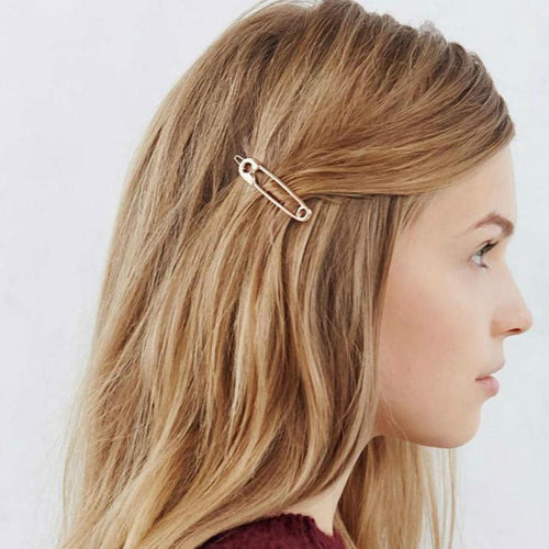 Vintage Silver Gold Hairpin