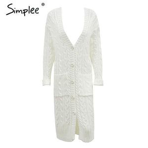 Long Knitted Casual Cardigan