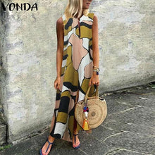 Load image into Gallery viewer, Olive Green Patch Maxi Dress - Yogalogical
