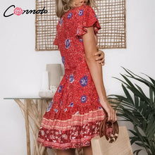 Load image into Gallery viewer, Boho Floral Summer Dress