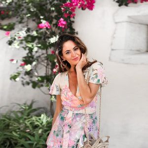 Pink Boho Floral Maxi Dress - Yogalogical