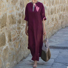 Load image into Gallery viewer, Bohemian Maxi Kaftan Dress