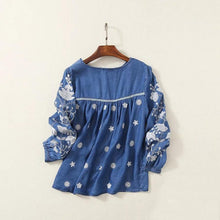 Load image into Gallery viewer, Vintage Denim Boho Top