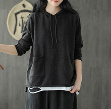 Load image into Gallery viewer, Casual Loose Hooded Sweater - Yogalogical