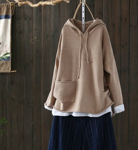 Casual Loose Hooded Sweater - Yogalogical