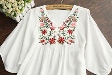 Load image into Gallery viewer, Mexican Boho Embroidered Mini Dress - Yogalogical