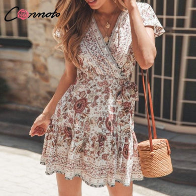 Boho Floral Summer Dress - Yogalogical