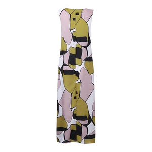 Olive Green Patch Maxi Dress - Yogalogical