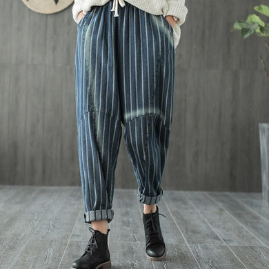 Denim Baggy Harem Style Trousers - Yogalogical