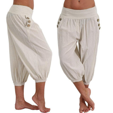 Women Summer Solid Harem Pants