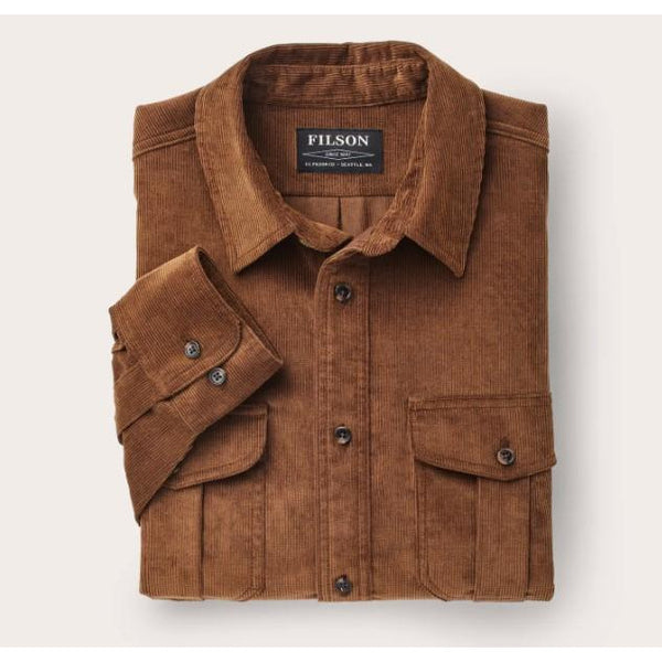 11-Wale Corduroy Shirt Brown
