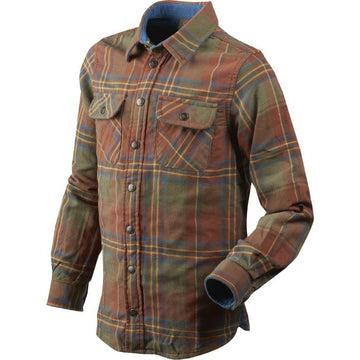 Nolan Kids Shirt Sequoia Rust Check