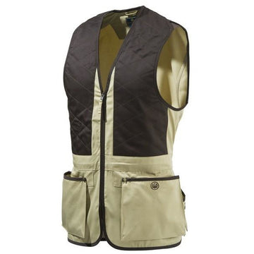Trap Cotton Vest Beige Brun