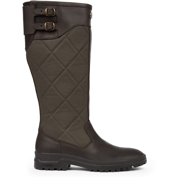W Jameson Quilted Leather Boot Marron