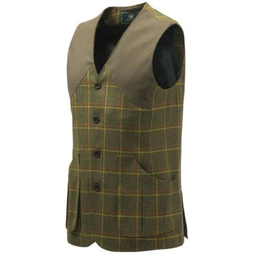 St James Vest Green Check