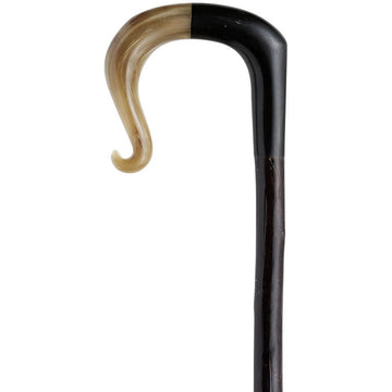 Buffalo horn and ramshorn crook