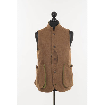 Mens Gilet Ginger Brown