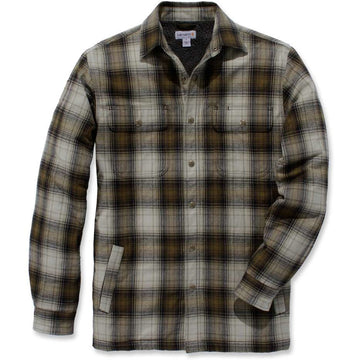 Hubbard Sherpa Lined Shirt Jac Fir Green