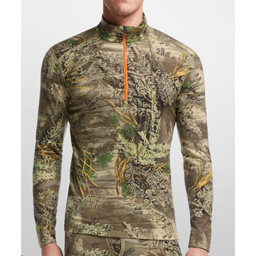IKA Underställ man LS Half Zip Real Tree Camo