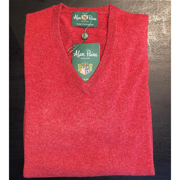 Haddington Cashmere V-neck Poppy