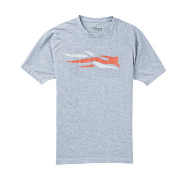 Sitka Logo Tee SS Heather Grey