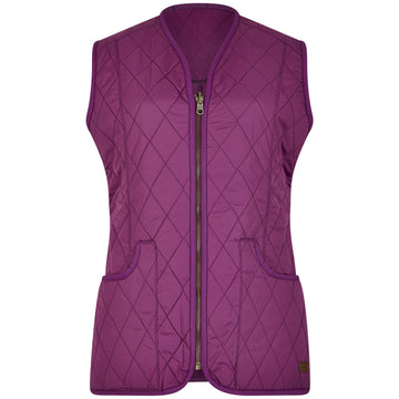 Kilruddery Quilted Gilet Berry