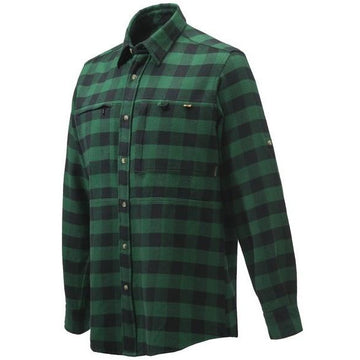 Overshirt Zippered Pocket Green Check