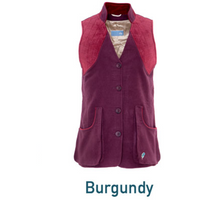 Pintail Shooting Vest Burgundy