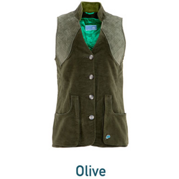 Pintail Lady Shooting Vest Olive