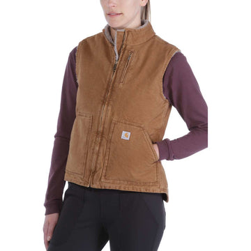 W Sandstone Mock Neck Vest Carhartt Brown