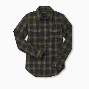 Womens Scout Shirt Black/Dark Olive Plaid