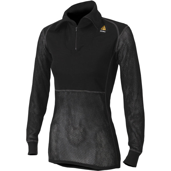 Woolnet Lady Polo Zip Black