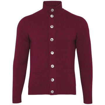 Landford Button Cardigan Bordeaux