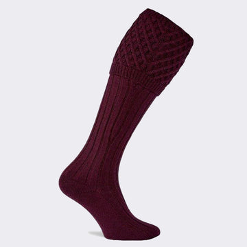 Chelsea Shooting Sock Burgundy
