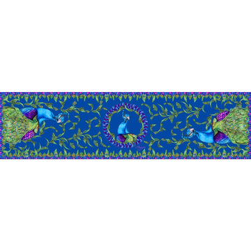 Classic Scarf Marvellous Peacock Blue
