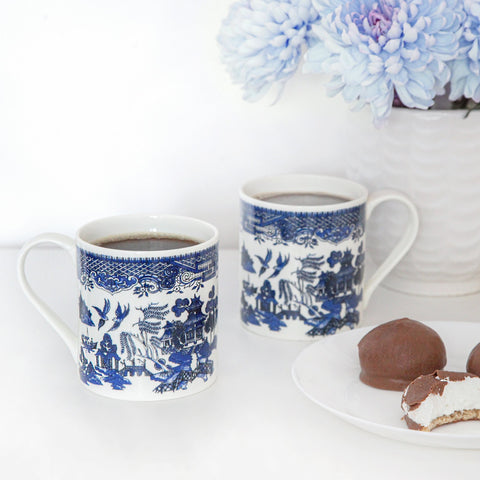Hobby Mug Intricate Blue and White Details